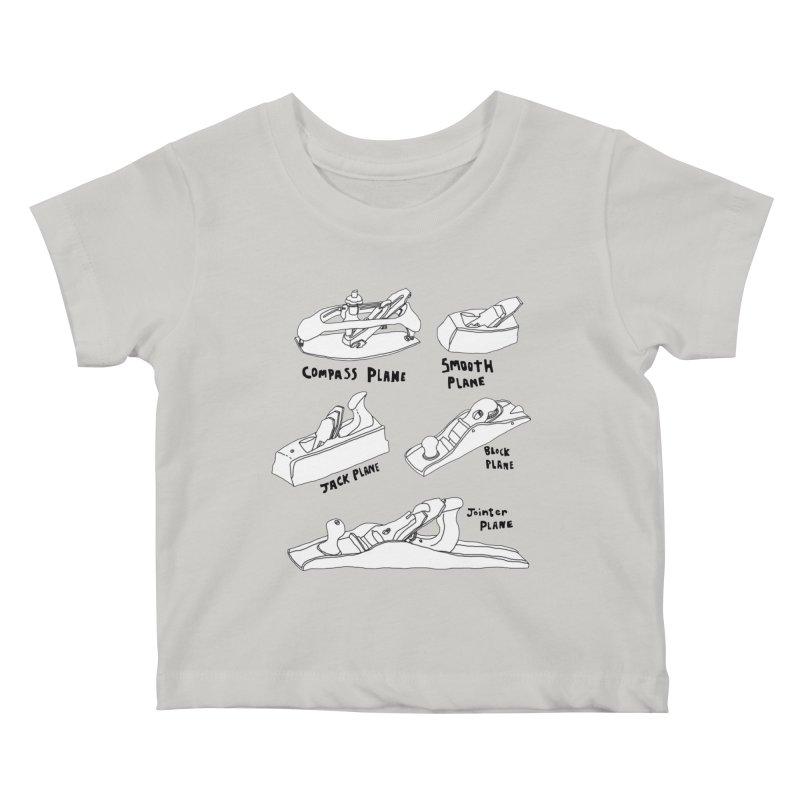 Plane Kids Baby T-Shirt by Camilla Barnard's Artist Shop