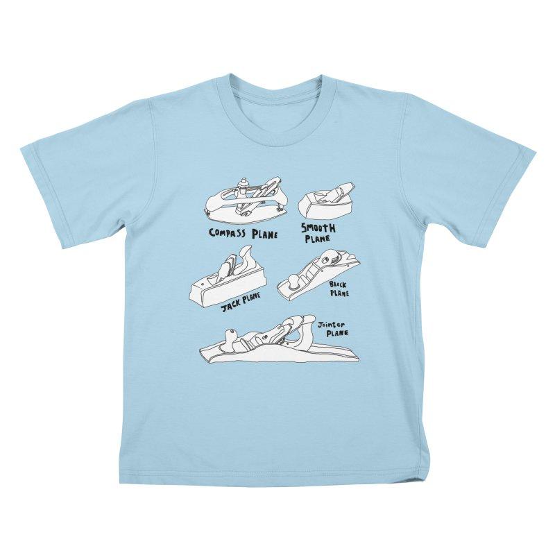 Plane Kids T-Shirt by Camilla Barnard's Artist Shop