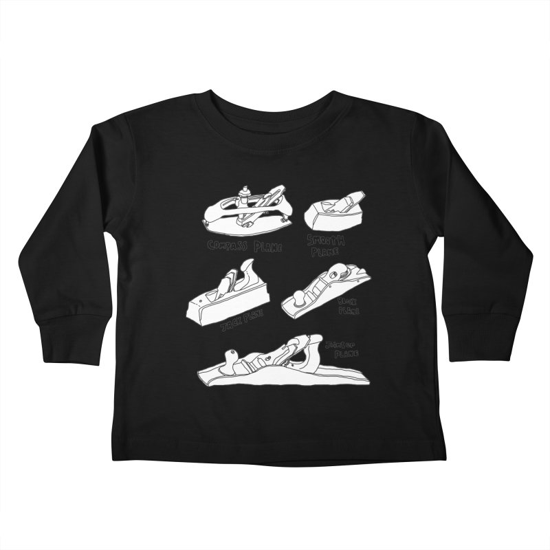 Plane Kids Toddler Longsleeve T-Shirt by Camilla Barnard's Artist Shop