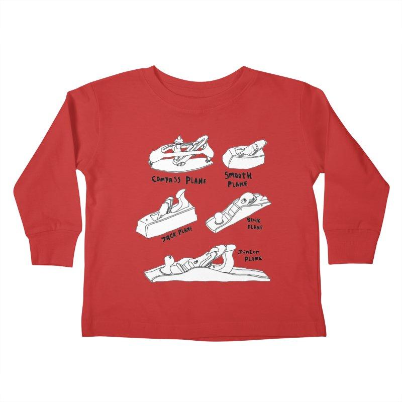 Plane Kids Toddler Longsleeve T-Shirt by Camilla Barnard's Artist Shop