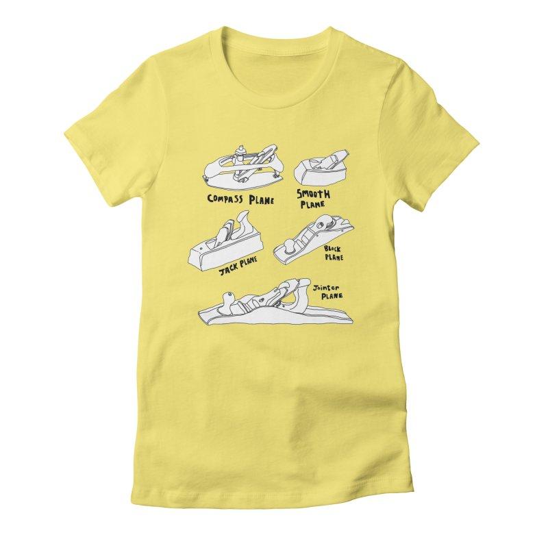 Plane Women's Fitted T-Shirt by Camilla Barnard's Artist Shop