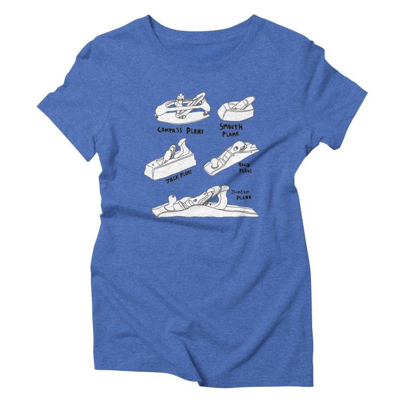 Plane Women's Triblend T-Shirt by Camilla Barnard's Artist Shop