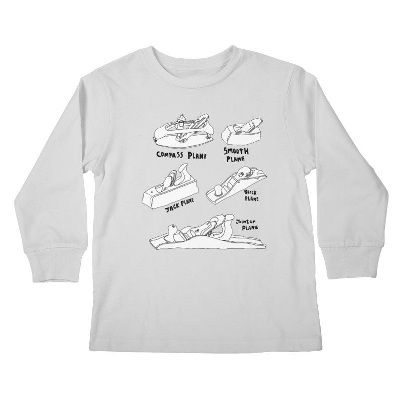 Plane Kids Longsleeve T-Shirt by Camilla Barnard's Artist Shop