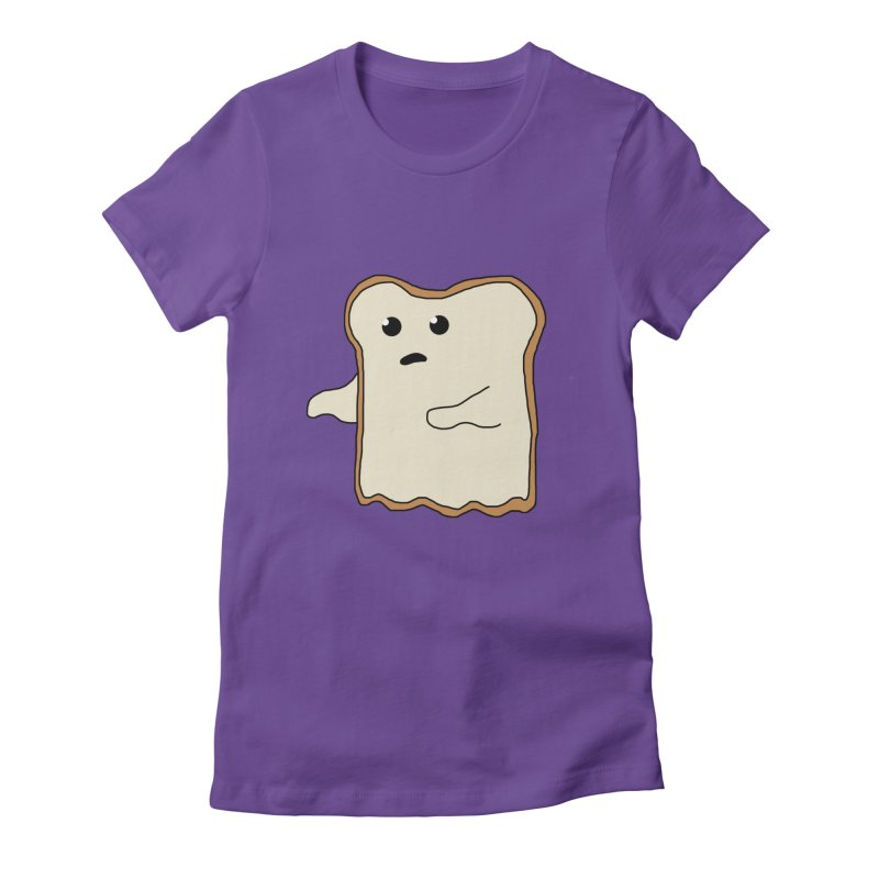 Ghost of A Toast  Women's Fitted T-Shirt by Camilla Barnard's Artist Shop