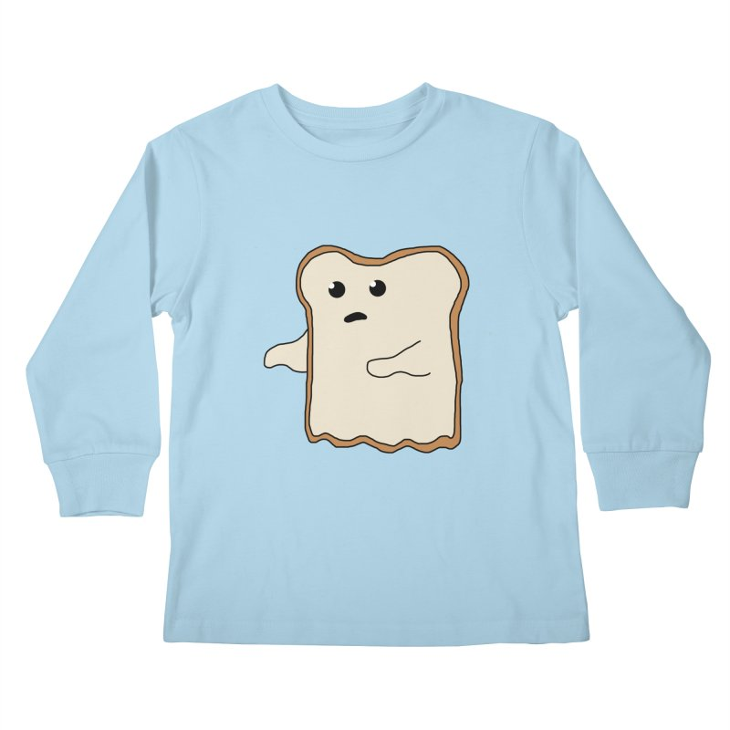 Ghost of A Toast  Kids Longsleeve T-Shirt by Camilla Barnard's Artist Shop