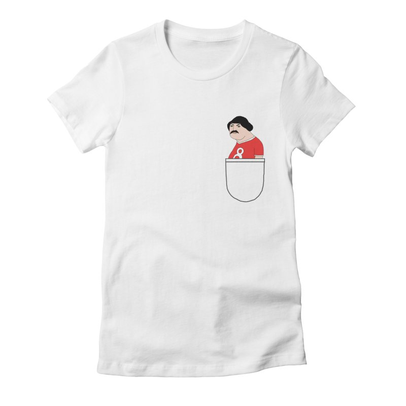 Romeo Codpiece in your pocket Women's Fitted T-Shirt by Camilla Barnard's Artist Shop