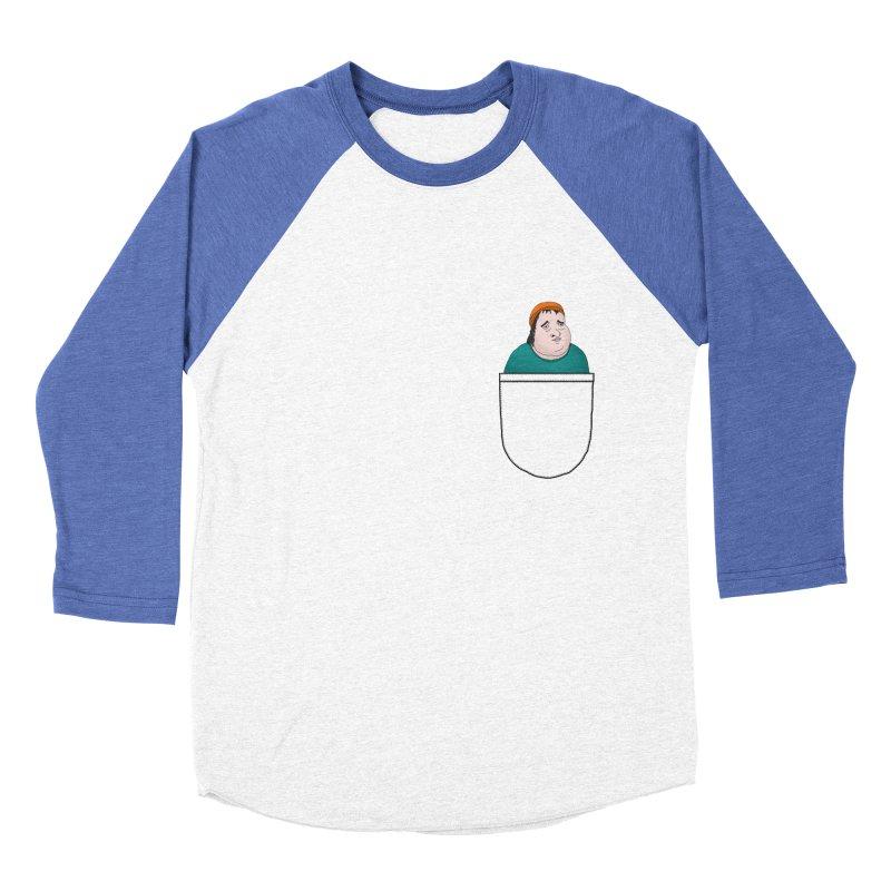 Liam Butterbean in your pocket Men's Baseball Triblend T-Shirt by Camilla Barnard's Artist Shop