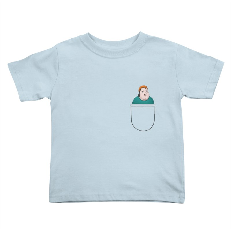 Liam Butterbean in your pocket Kids Toddler T-Shirt by Camilla Barnard's Artist Shop