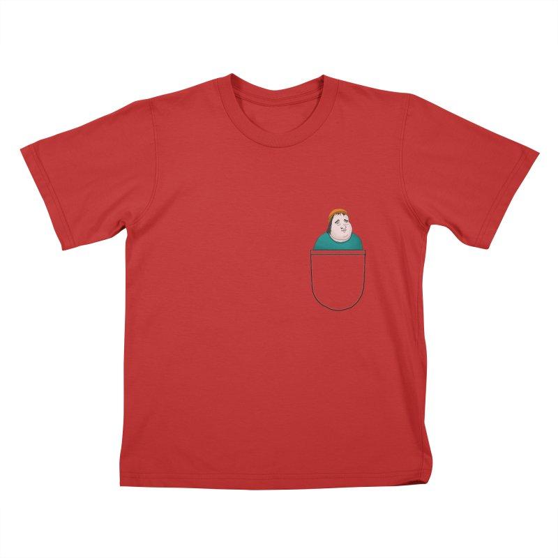 Liam Butterbean in your pocket Kids T-shirt by Camilla Barnard's Artist Shop