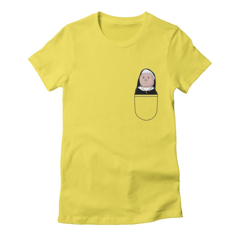 Nun of your business Women's Fitted T-Shirt by Camilla Barnard's Artist Shop