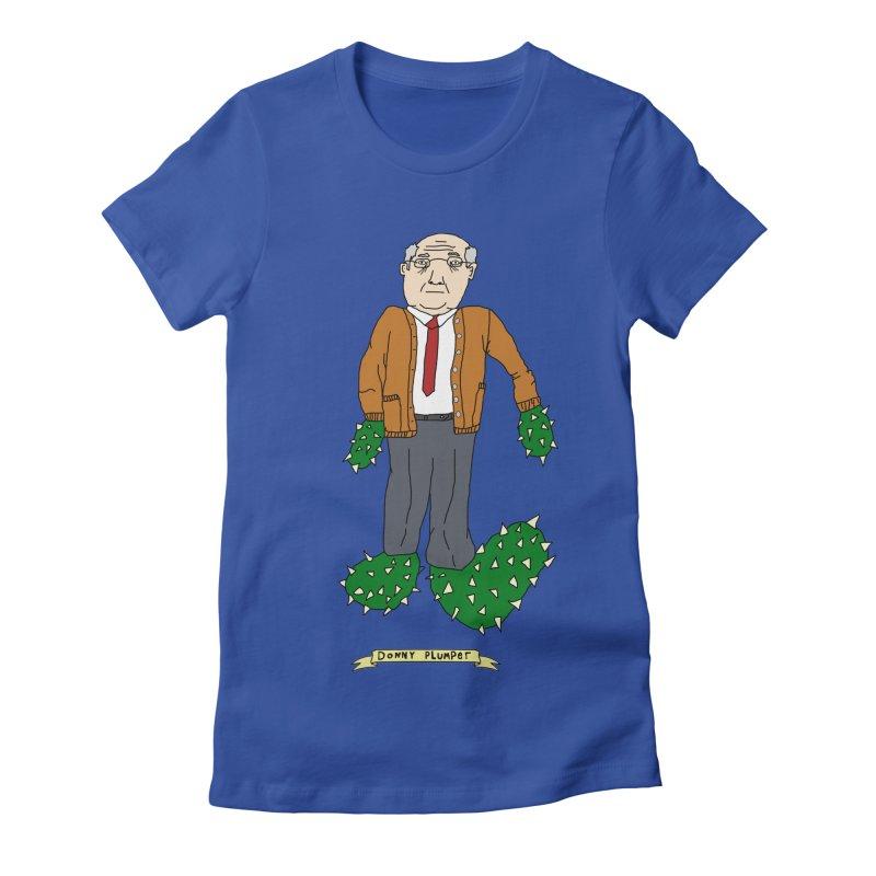Donny Plumper Women's Fitted T-Shirt by Camilla Barnard's Artist Shop