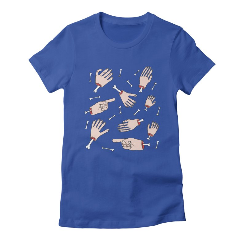 Need A Hand? Women's Fitted T-Shirt by Camilla Barnard's Artist Shop