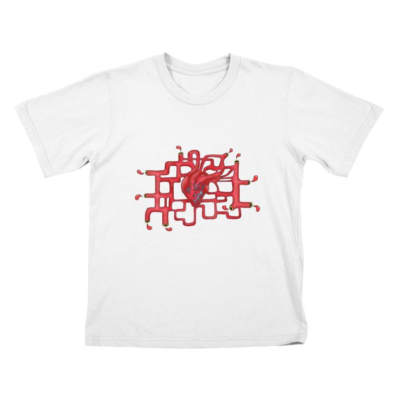 Get your heart pumpin' Kids T-Shirt by Camilla Barnard's Artist Shop