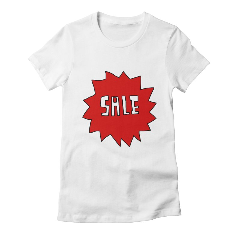 Shit Sale - Optical Illusion Tee Women's Fitted T-Shirt by Camilla Barnard's Artist Shop
