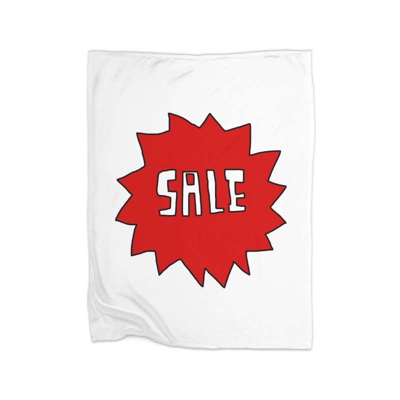 Shit Sale - Optical Illusion Tee Home Blanket by Camilla Barnard's Artist Shop