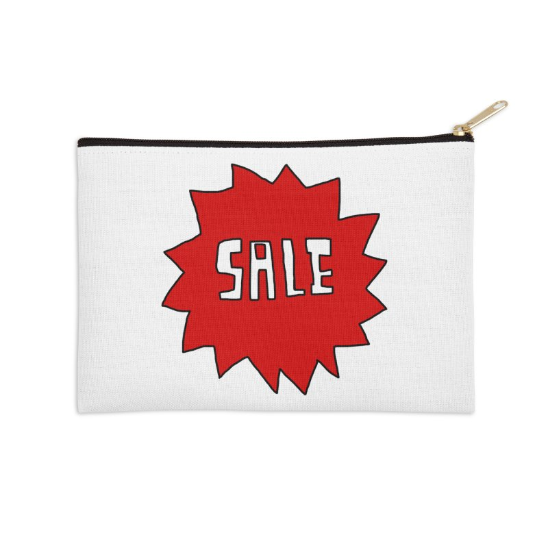 Shit Sale - Optical Illusion Tee Accessories Zip Pouch by Camilla Barnard's Artist Shop
