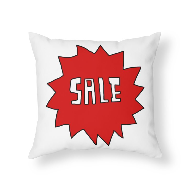 Shit Sale - Optical Illusion Tee in Throw Pillow by Camilla Barnard's Artist Shop