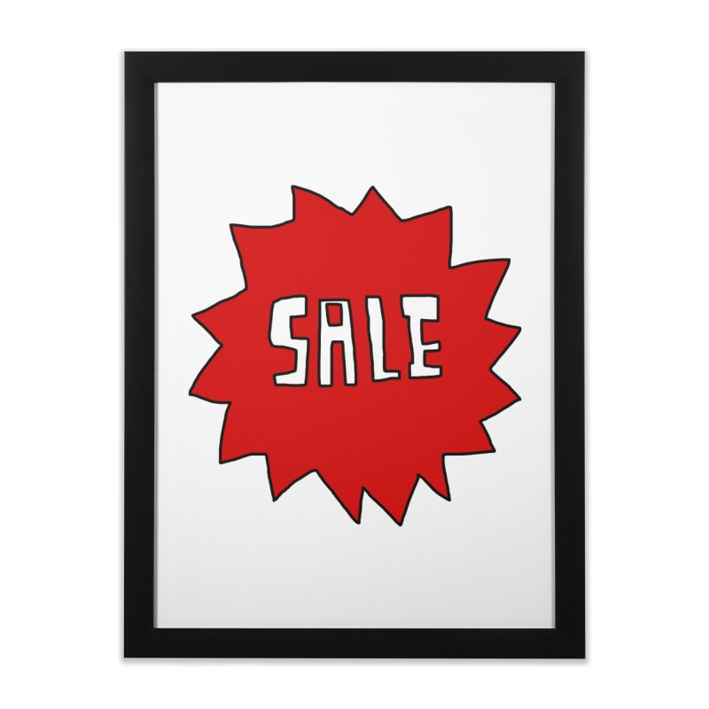 Shit Sale - Optical Illusion Tee Home Framed Fine Art Print by Camilla Barnard's Artist Shop