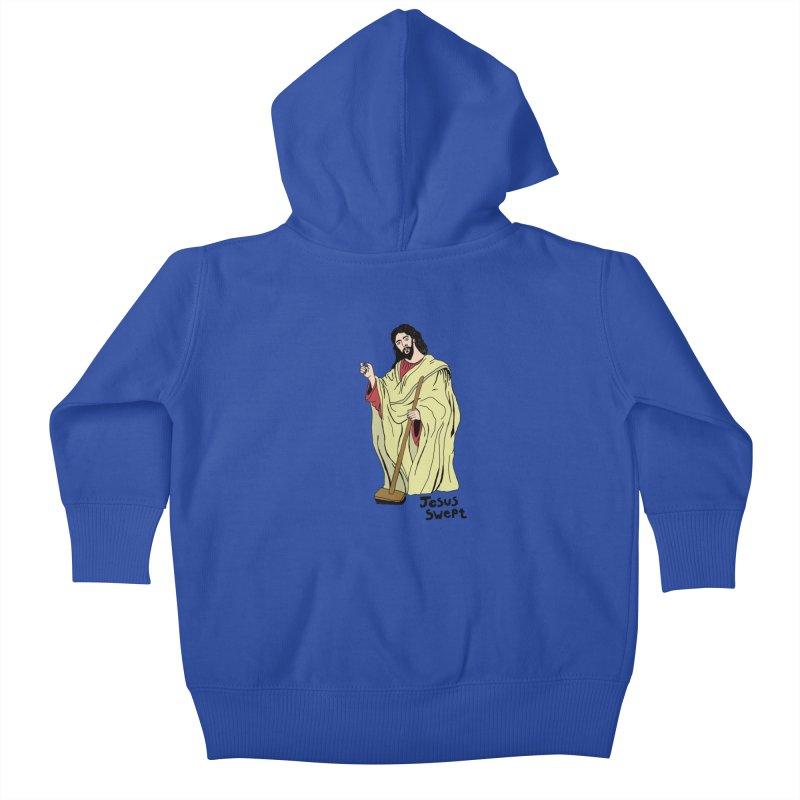 Jesus Swept Kids Baby Zip-Up Hoody by Camilla Barnard's Artist Shop