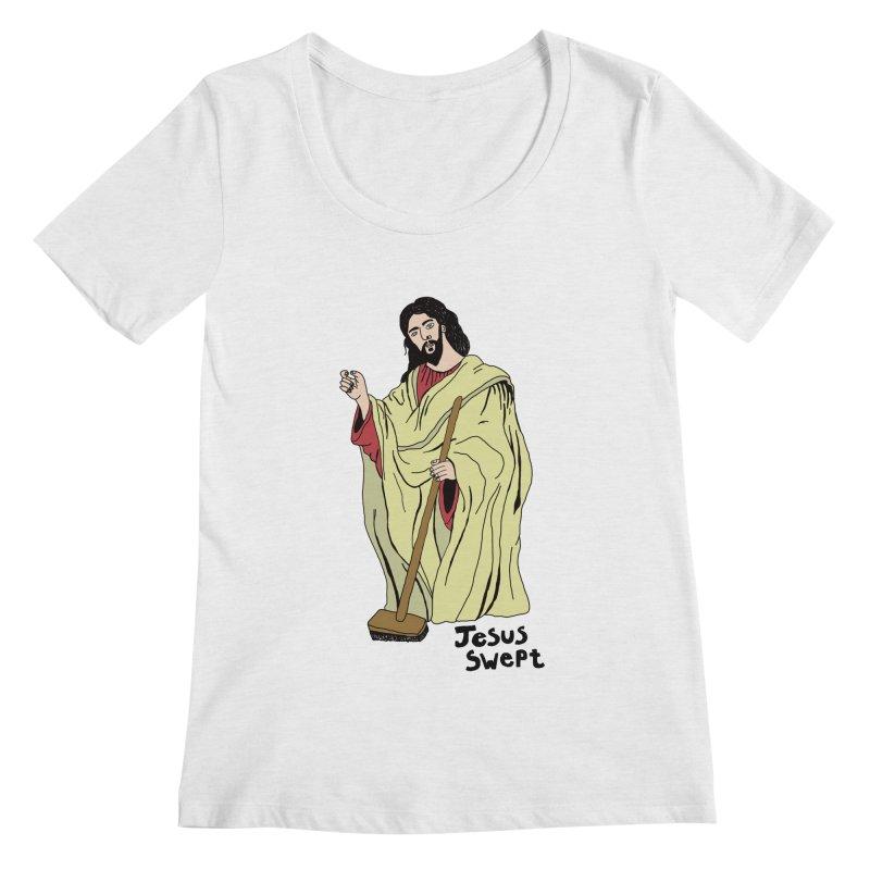 Jesus Swept Women's Scoopneck by Camilla Barnard's Artist Shop