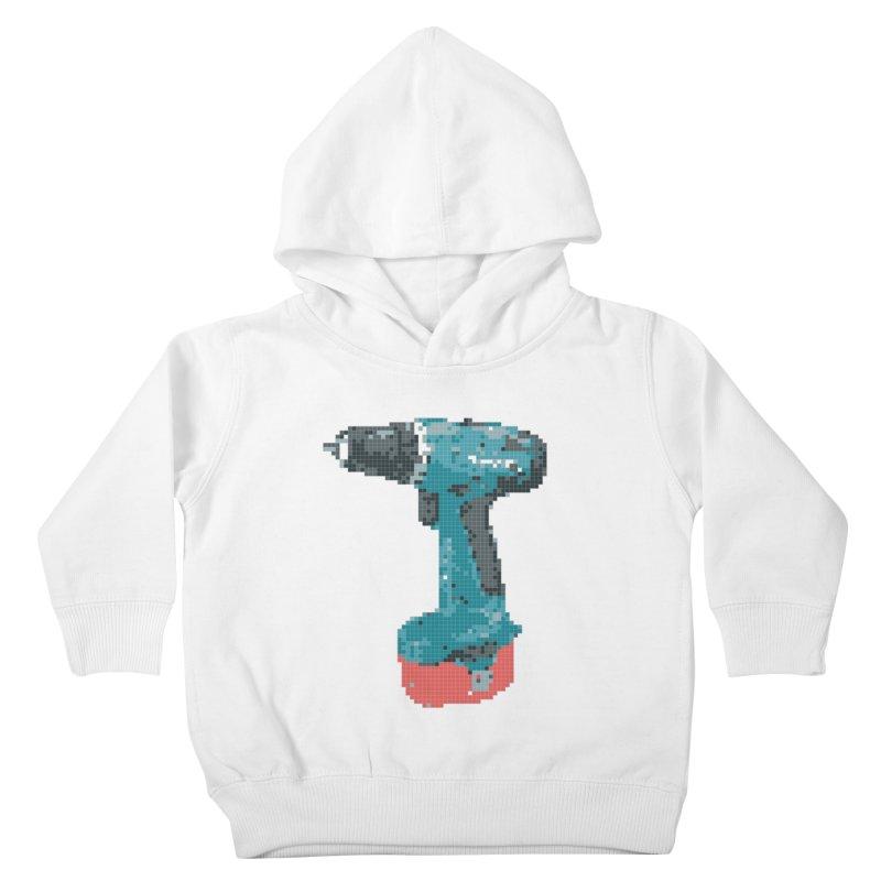 Pixel Drill  Kids Toddler Pullover Hoody by Camilla Barnard's Artist Shop
