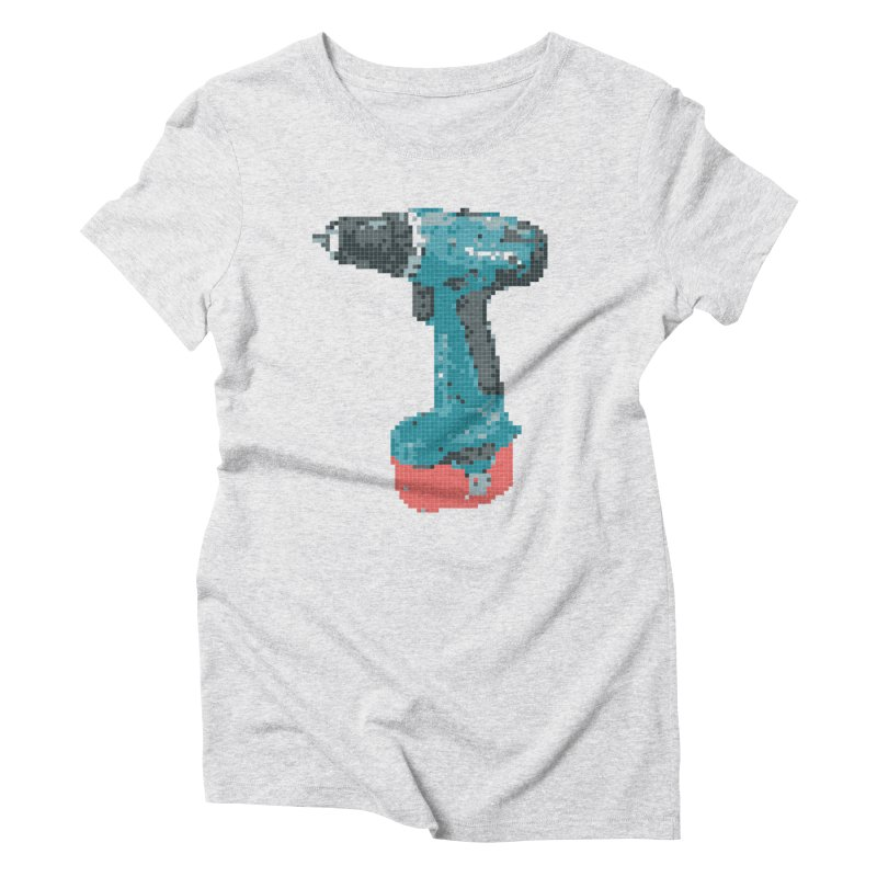 Pixel Drill  Women's Triblend T-shirt by Camilla Barnard's Artist Shop