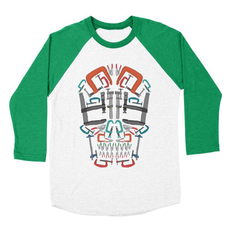 Don't clamp my style - Skull  Men's Baseball Triblend T-Shirt by Camilla Barnard's Artist Shop
