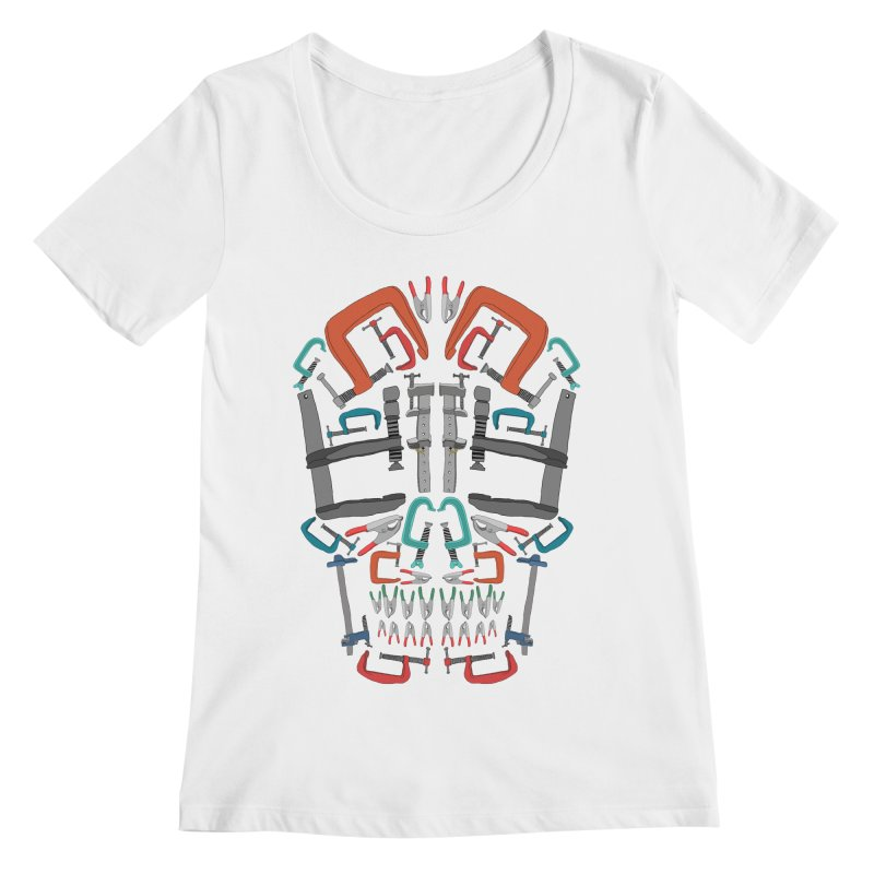 Don't clamp my style - Skull  Women's Scoopneck by Camilla Barnard's Artist Shop