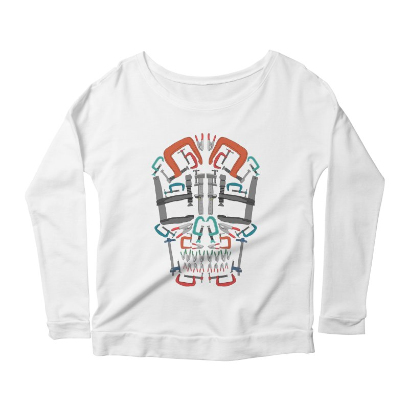 Don't clamp my style - Skull  Women's Longsleeve Scoopneck  by Camilla Barnard's Artist Shop