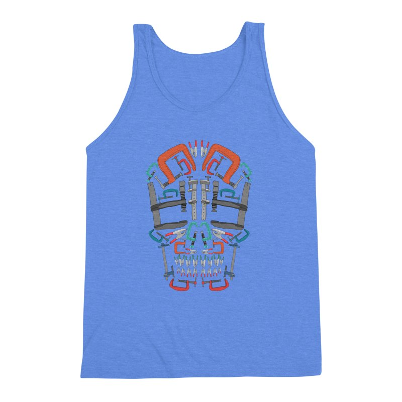 Don't clamp my style - Skull  Men's Triblend Tank by Camilla Barnard's Artist Shop