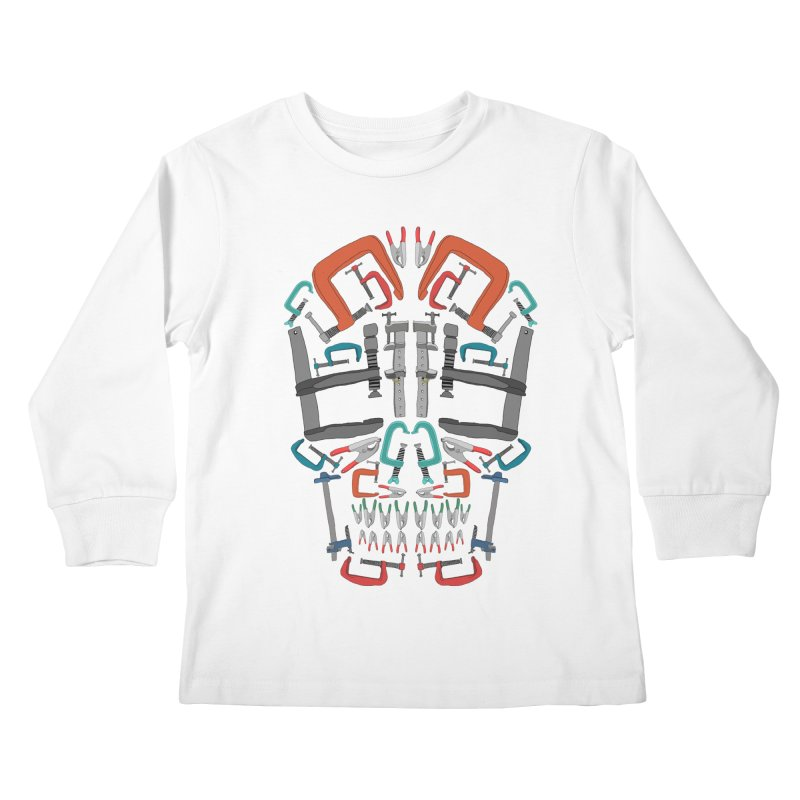 Don't clamp my style - Skull  Kids Longsleeve T-Shirt by Camilla Barnard's Artist Shop