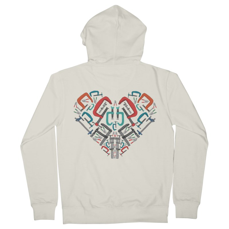 Don't clamp my style - Heart Men's Zip-Up Hoody by Camilla Barnard's Artist Shop