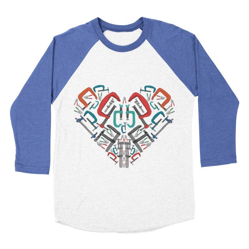 Don't clamp my style - Heart Men's Baseball Triblend T-Shirt by Camilla Barnard's Artist Shop