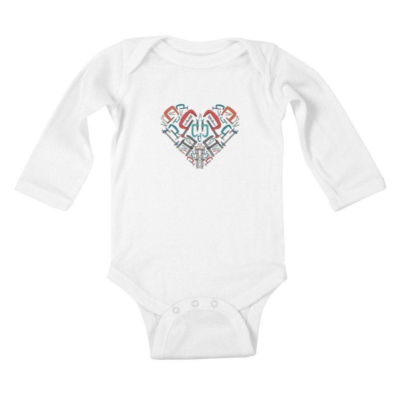 Don't clamp my style - Heart Kids Baby Longsleeve Bodysuit by Camilla Barnard's Artist Shop