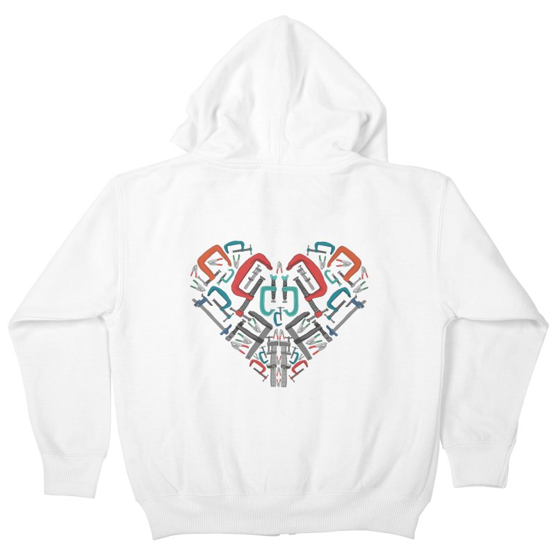 Don't clamp my style - Heart Kids Zip-Up Hoody by Camilla Barnard's Artist Shop