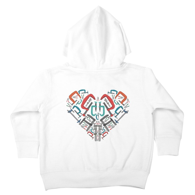 Don't clamp my style - Heart Kids Toddler Zip-Up Hoody by Camilla Barnard's Artist Shop
