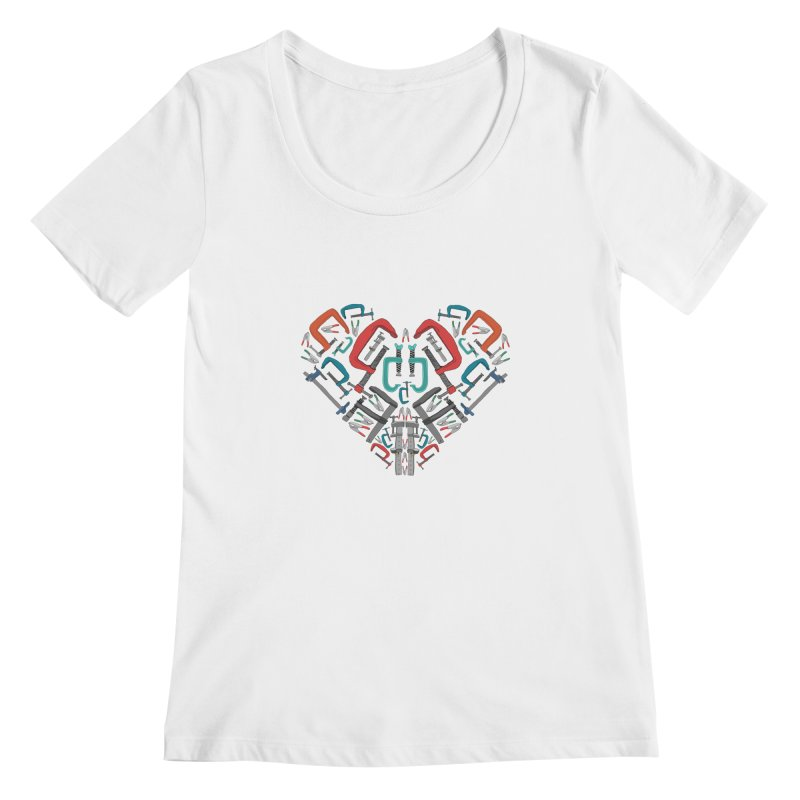 Don't clamp my style - Heart Women's Scoopneck by Camilla Barnard's Artist Shop