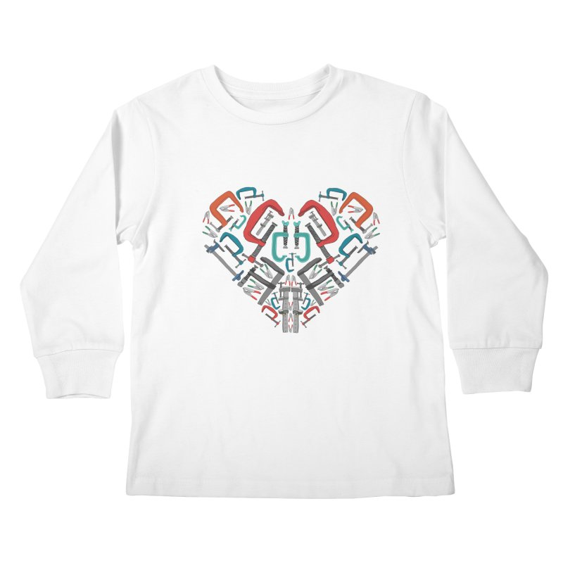 Don't clamp my style - Heart Kids Longsleeve T-Shirt by Camilla Barnard's Artist Shop
