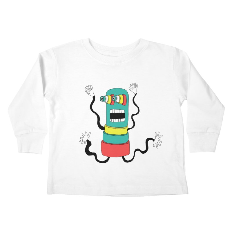 Sir Wiggleworth  Kids Toddler Longsleeve T-Shirt by Camilla Barnard's Artist Shop