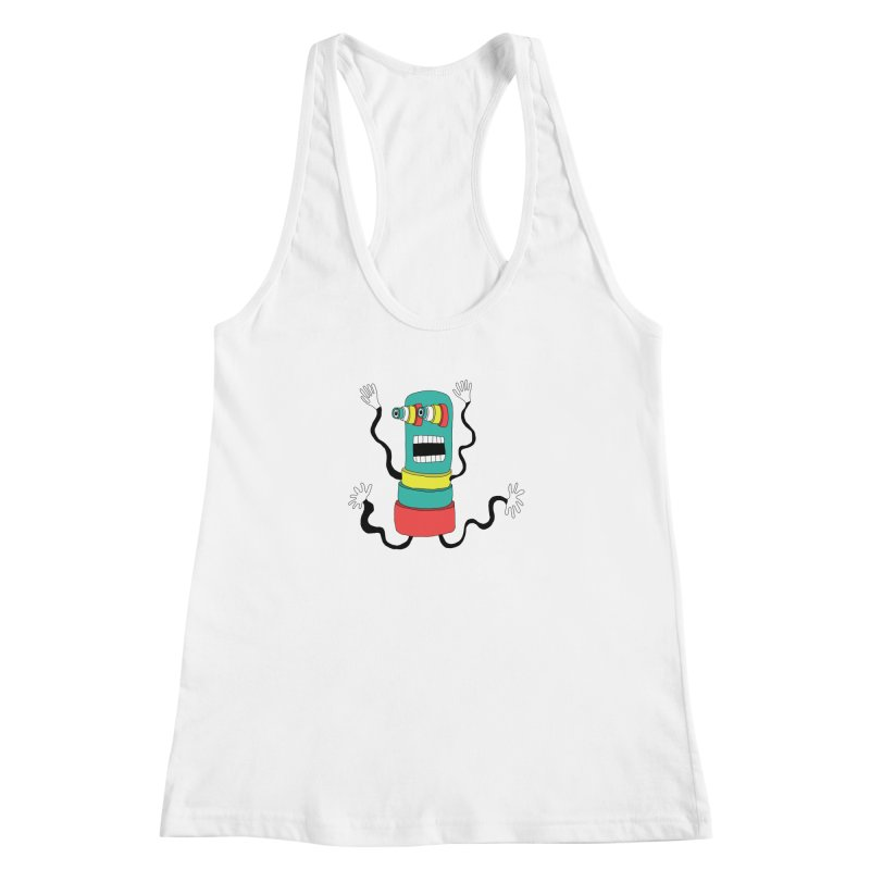 Sir Wiggleworth  Women's Racerback Tank by Camilla Barnard's Artist Shop