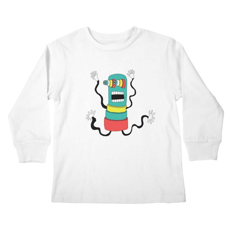 Sir Wiggleworth  Kids Longsleeve T-Shirt by Camilla Barnard's Artist Shop
