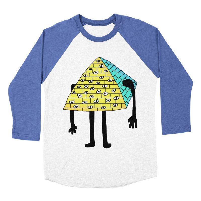 All seeing eye Men's Baseball Triblend T-Shirt by Camilla Barnard's Artist Shop