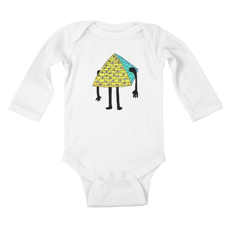 All seeing eye Kids Baby Longsleeve Bodysuit by Camilla Barnard's Artist Shop