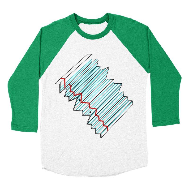 Folded lined paper Men's Baseball Triblend T-Shirt by Camilla Barnard's Artist Shop