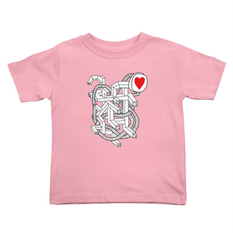 Heart Valves Kids Toddler T-Shirt by Camilla Barnard's Artist Shop