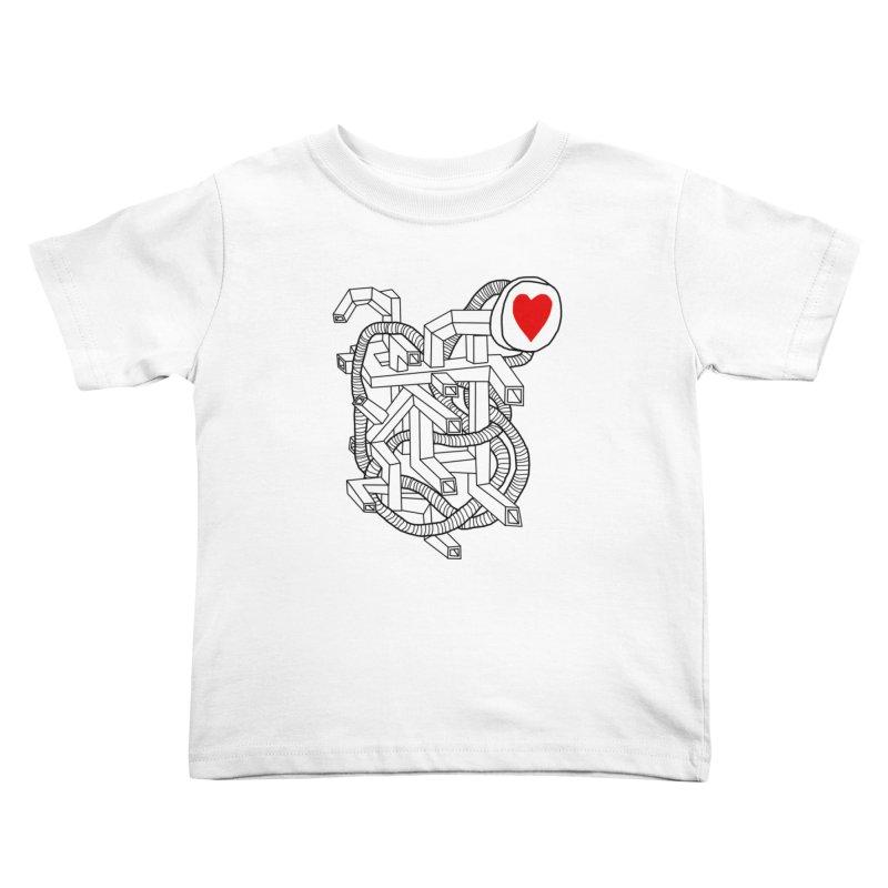 Heart Valves Kids Toddler T-Shirt by Camilla Barnard's Artist Shop