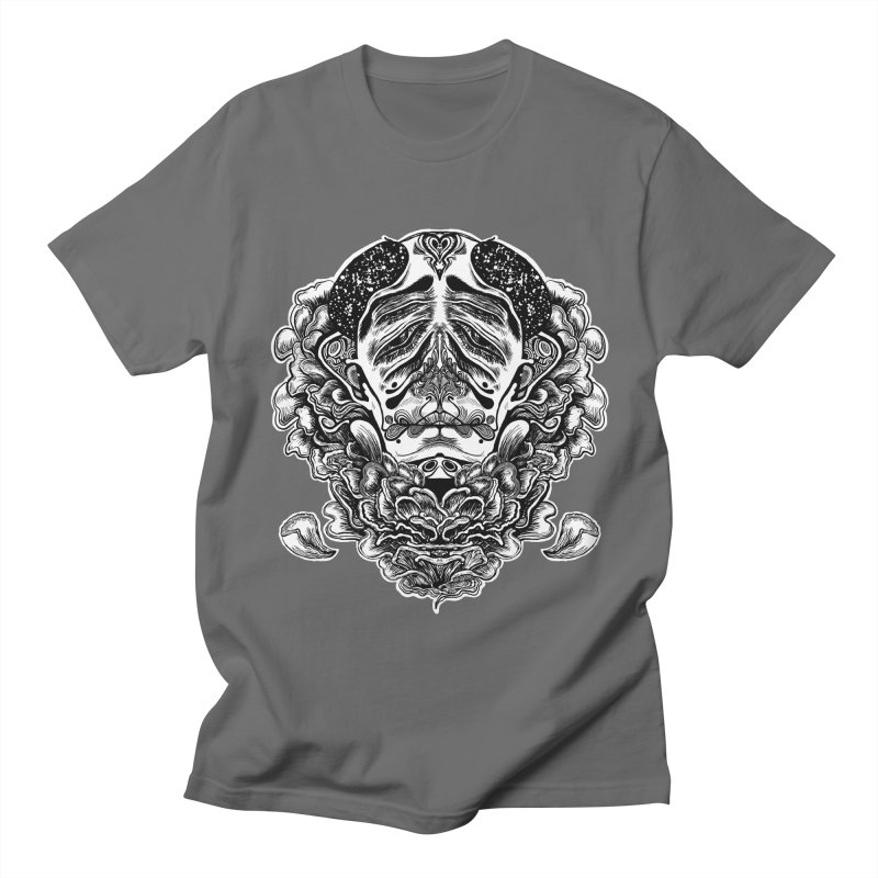 Blooming - Black Line White Fill Apparel T-Shirt by Cannery Rat Collective