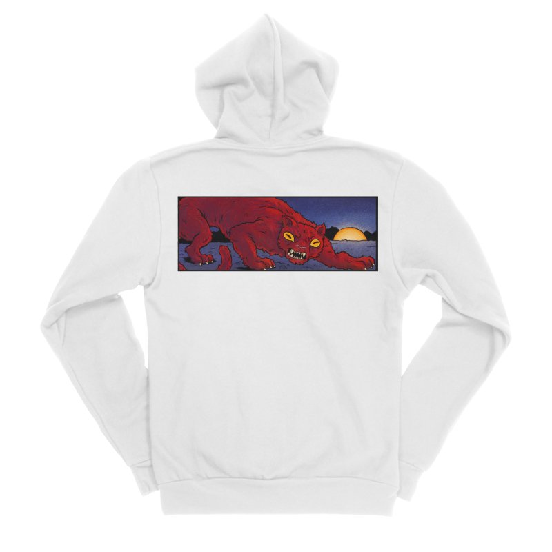 Blood Panther at Night Apparel, Fitted Zip-Up Hoody by Cannery Rat Collective