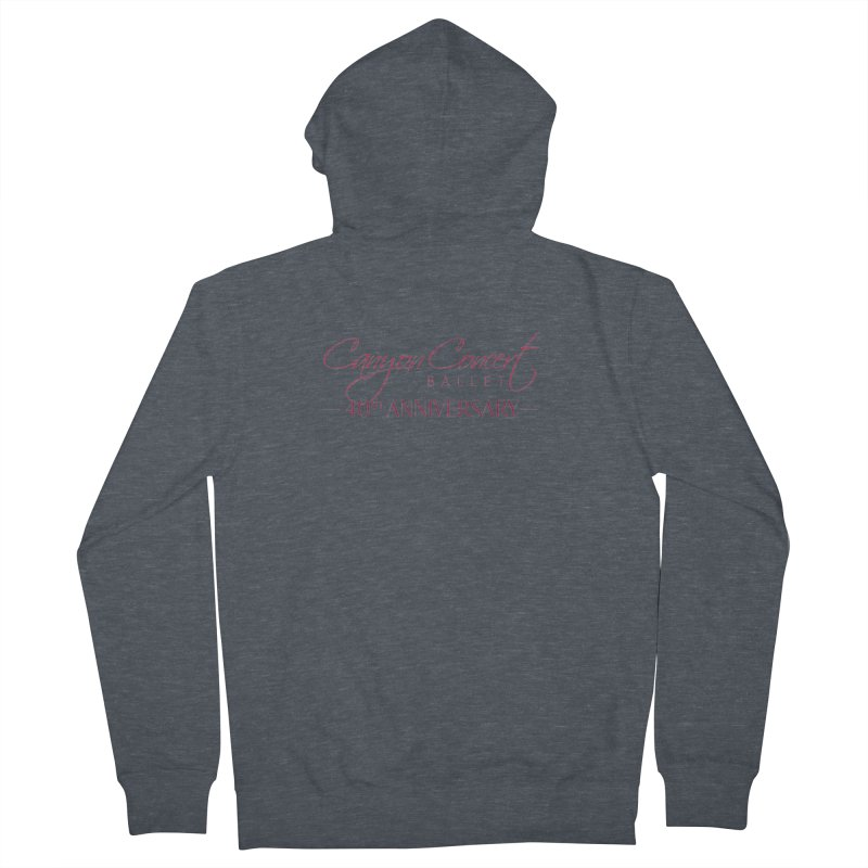 40th Anniversary Women's French Terry Zip-Up Hoody by Canyon Concert Ballet's Artist Shop