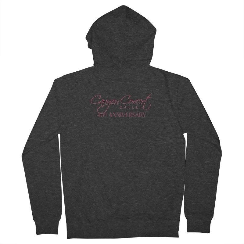 40th Anniversary Men's Zip-Up Hoody by Canyon Concert Ballet's Artist Shop